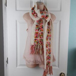 Nirvanna Designs Accessories - Nirvanna Designs Granny Squares Wool Scarf